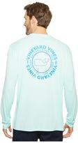 Vineyard Vines Long Sleeve Sail Rope Whale Dot Performance T-Shirt Men's T Shirt