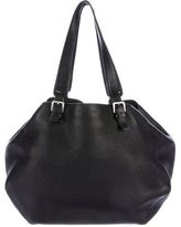 Jil Sander Pebbled Leather Shoulder Bag