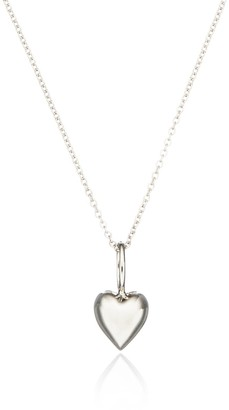 Lily & Roo Solid sterling Silver Heart Charm Necklace