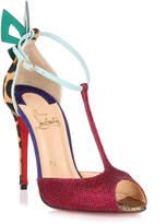 Christian Louboutin Aribak 100 cerise glitter sandal