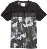 GUESS Men's Stream Floral Camo-Print T-Shirt
