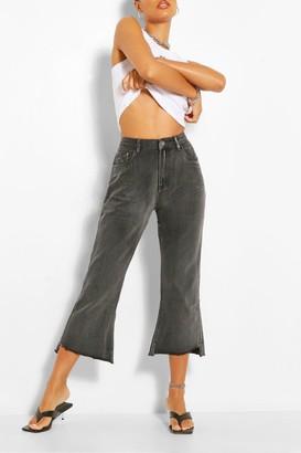 boohoo Cropped Flare Jean