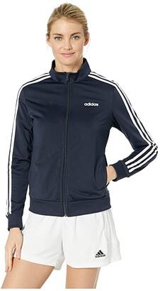 adidas Essential 3-Stripes Tricot Jacket (Legend Ink/White) Women's Coat
