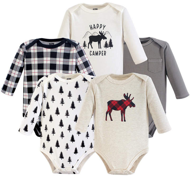 Baby Vision Hudson Baby Long Sleeve Bodysuits, 5-Pack, 0-24 Months