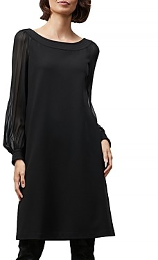 Lafayette 148 New York Linden Sheer Sleeve Dress