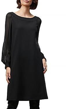 Lafayette 148 New York Linden Sheer Sleeve Dress