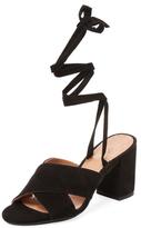 Lace-Up Block Heel Sandal