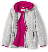 Lands' End Girls Packable Primaloft Printed Jacket-Sea Cliff Blue