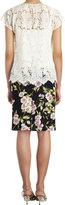 Dolce & Gabbana Rose-print Skirt