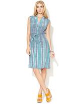 Tucker Silk V-Neck Henley Dress