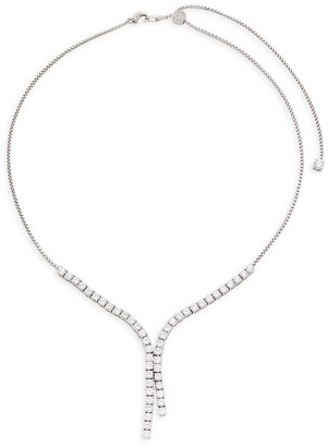 Adriana Orsini Rhodium-Plated Cubic Zirconia Necklace