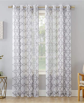 "Lichtenberg No. 918 Powell Trellis Sheer Grommet Curtain Panel, 59"" W x 95"" L"