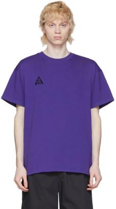 Nike ACG Purple Logo T-Shirt