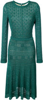 Oscar de la Renta scallop trim knit dress