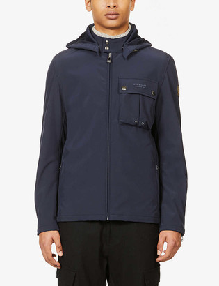Belstaff Wing funnel-neck waxed woven jacket