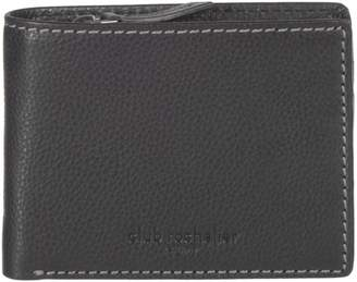 Club Rochelier Leather RFID Slim Wallet with Zip Coin Pocket