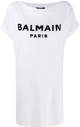 Balmain logo-detail long T-shirt