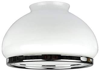 Westinghouse Lighting Opal Dome Shade with Chrome Band, 16.4 cm - White