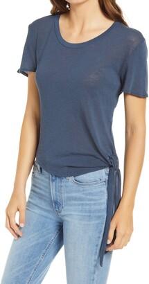 Faherty Hazel Tie Hem Organic Cotton Blend T-Shirt