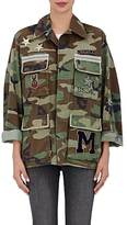 Ottotredici Women's Embellished Camouflage Cotton Field Jacket