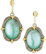 Armenta Triplet Oval Crivelli Drop Earrings w/ 18k Gold