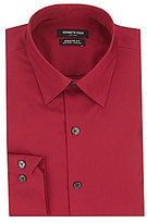 Kenneth Cole New York Non-Iron Regular Fitted Classic-Fit Point Collar Dress Shirt