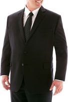 JCPenney Stafford Super 100 Black Stripe Suit Separates Jacket-Big & Tall