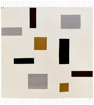 Jonathan Adler Brushed Alpaca Mondrian Coverlet