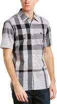 Burberry Check Cotton Short Sleeved Shirt