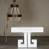 The Well Appointed House Errol Console in White Lacquer