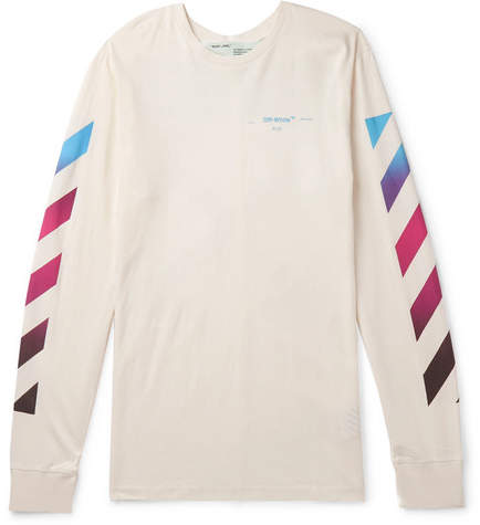 Off-White Off White Printed Cotton-Jersey T-Shirt - Men