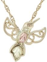 Black Hills Hummingbird Pendant w/ Chain, 10K/12K Gold