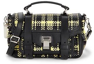 Proenza Schouler Woven Leather Messenger Bag