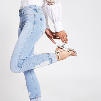 River Island Light blue Molly mid rise jeggings