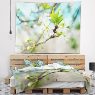 Design Art Designart 'Beautiful Cherry Blossom n Spring' Floral Wall Tapestry