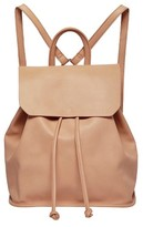 Urban Originals Midnight Faux Leather Flap Backpack - Pink