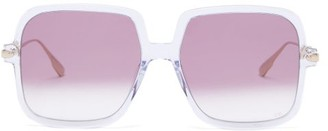 Christian Dior Diorlink1 Square Acetate Sunglasses - Clear