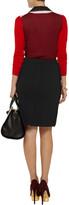 Carven Textured-felt skirt
