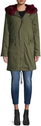 AVEC LES FILLES 3-In-1 Faux Fur-Lined Cotton Parka