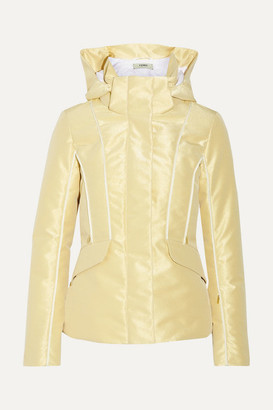 Fendi Roma Metallic Padded Ski Jacket - Gold