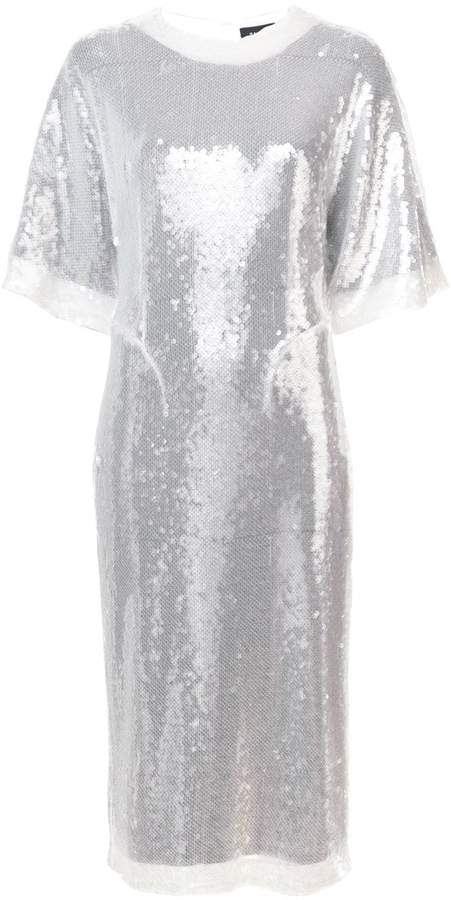 Sally LaPointe sequin embellished T-shirt dress
