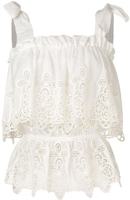 Dolce & Gabbana Intaglio Embroidered Top