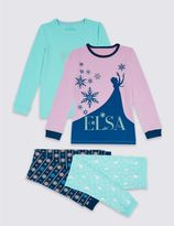 Marks and Spencer Disney FrozenTM 2 Pack Pyjamas (2-10 Years)