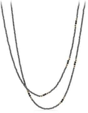 David Yurman Osetra Tweejoux Necklace With Hematine, Black Onyx And