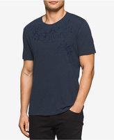Calvin Klein Jeans Men's Embroidered Graphic-Print Logo Cotton T-Shirt