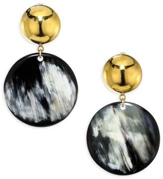 Nest Horn Disc Earrings
