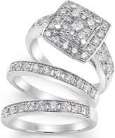 Macy's Diamond Engagement Ring Bridal Set (2 ct. t.w.) in 14k White Gold