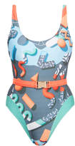 We Are Handsome Jigsaw Tank One Piece Swimsuit