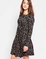 Brave Soul Long Sleeve Floral Skater Dress
