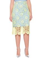 ELOQUII Plus Size Studio Chantilly Lace Pencil Skirt